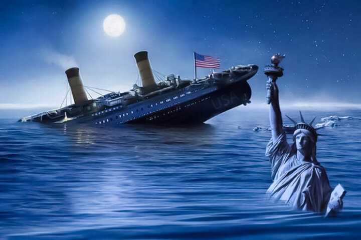 Why does Imam Khamenei believe the US will sink like the Titanic?