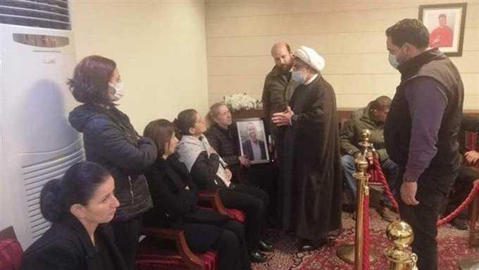 Hezbollah Delegation Conveys Sayyed Nasrallah's Condolences to Family of Jospeh Tawk at Bsharri Church