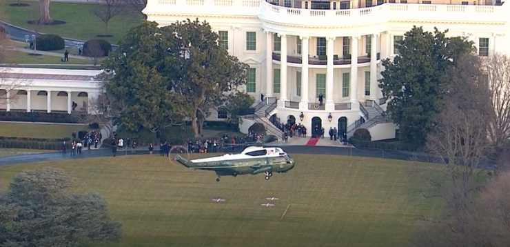Trump leaves White House for last time as US president