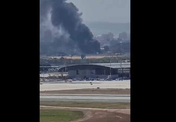 Israeli media reports massive fire near Ben Gurion airport: number of houses evacuated