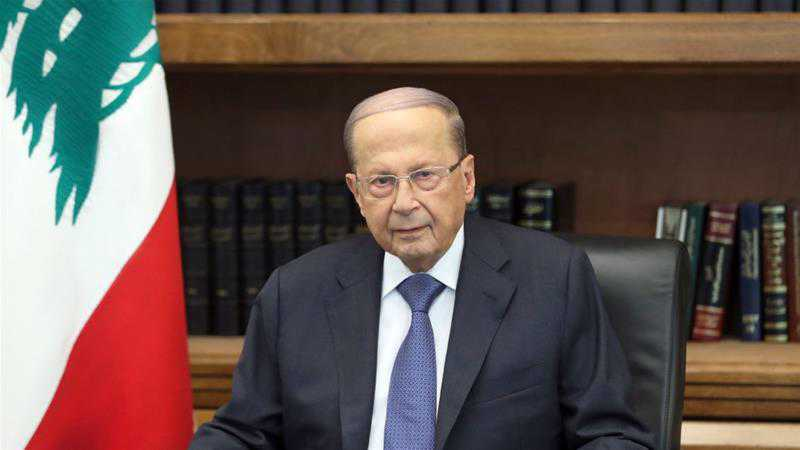 President Aoun: Al-Quds Will Keep Bleeding as Long as Principle of Force, Displacement Prevails