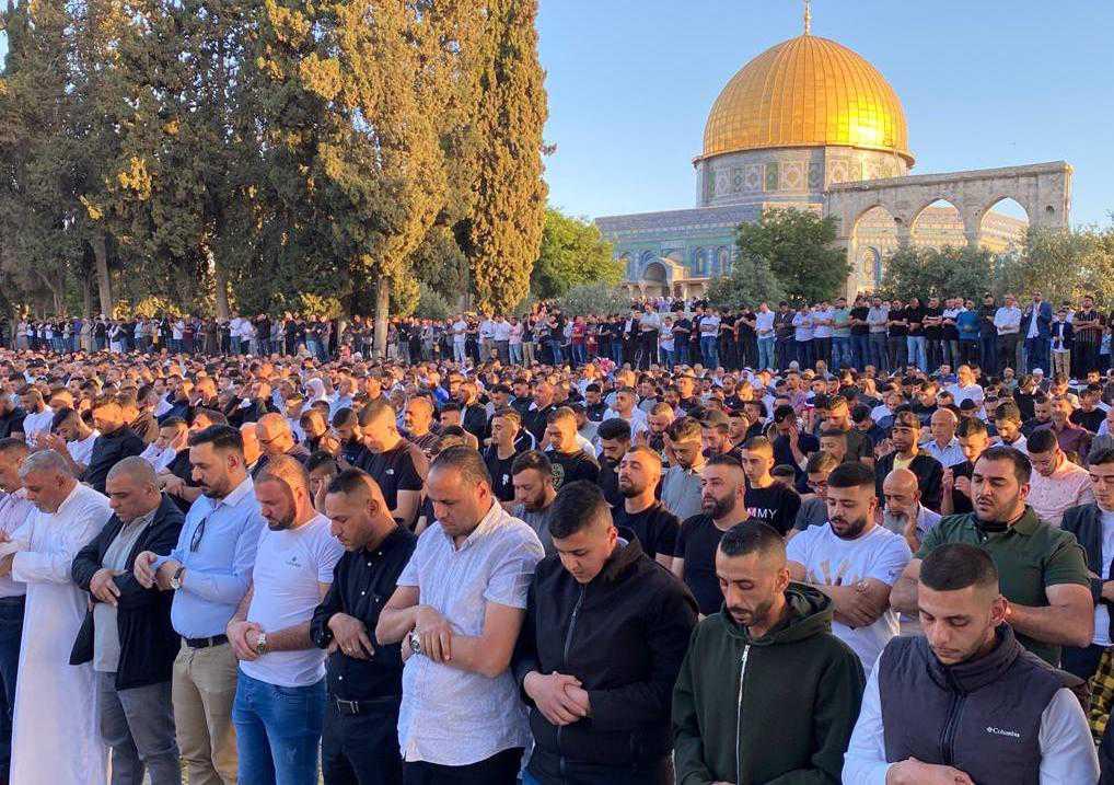 Over 100,000 Palestinians Perform Eid Al-Adha Prayerrsat Al-Aqsa