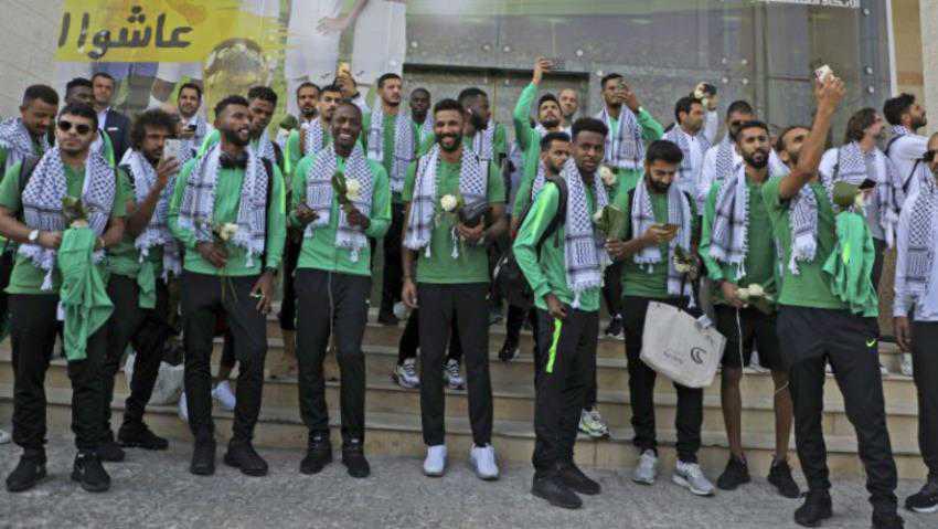 Saudi Football Team Visits Al-Aqsa Mosque Sparking Anger over Riyadh's Normalization Acts