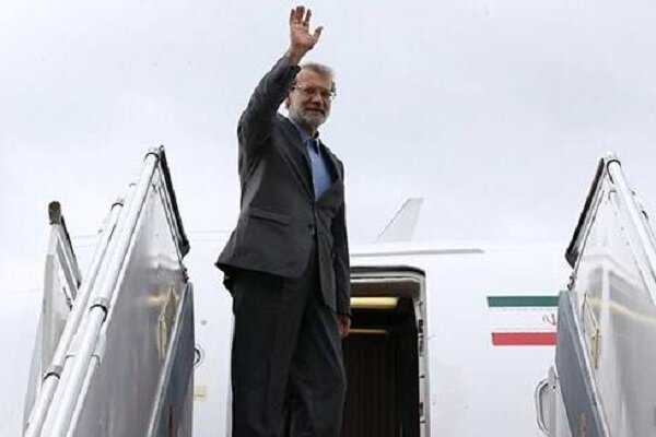 Parl. speaker Larijani leaves Belgrade for Tehran after attending IPU meeting