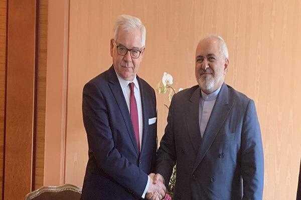 Iranian, Polish FMs hold bilateral talks in Germany