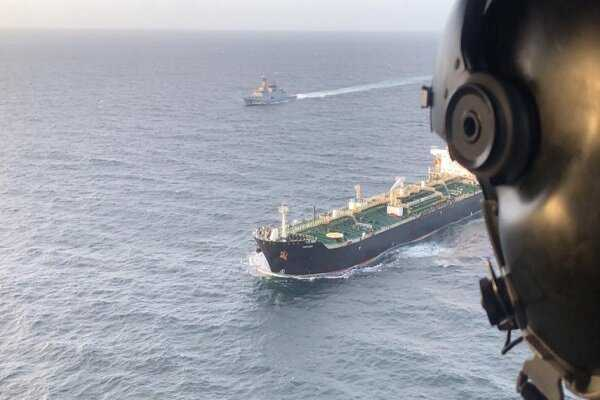 'Fortune' oil tanker moors at El Palito refinery, Venezuela