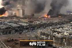 VIDEO: Buildings destroyed in Beirut by massive explosion