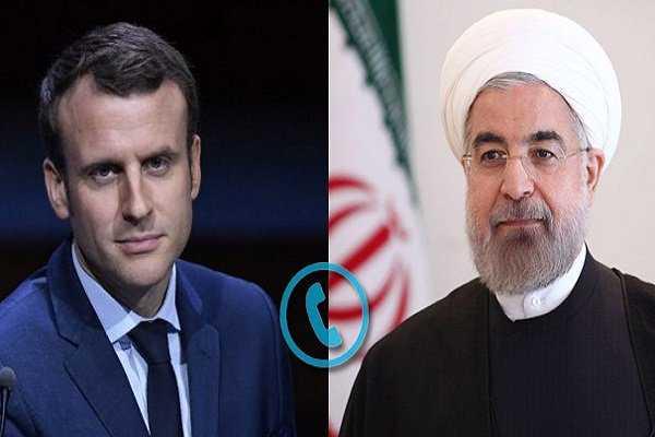 US has no right to use JCPOA mechanism, Rouhani tells Macron