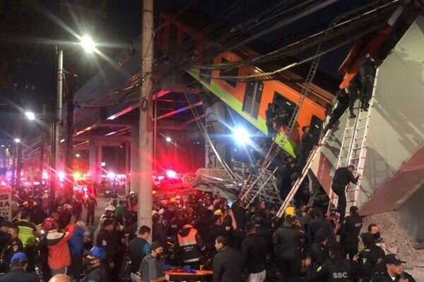 Collapse of train bridge kills 15, injures 70 in Mexico City