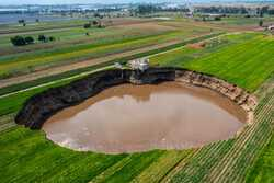 VIDEO: Growing Mexican sinkhole