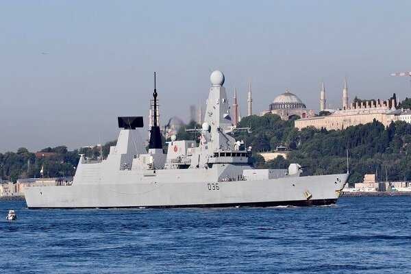Russian military fires warning shots at British destroyer