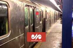 VIDEO: Flood inundates subway in China