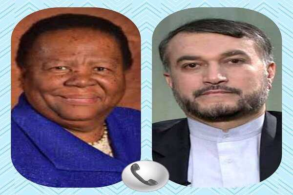 Iran, S. Africa FMs discuss bilateral relations in phone call