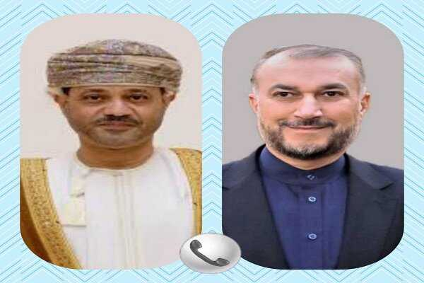 Iran, Oman FMs discuss ties, region in phone call on Tuesday