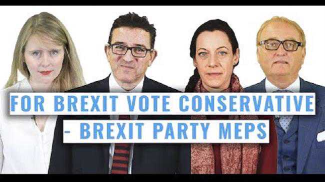 Four Brexit Party MEPs quit to back Tories