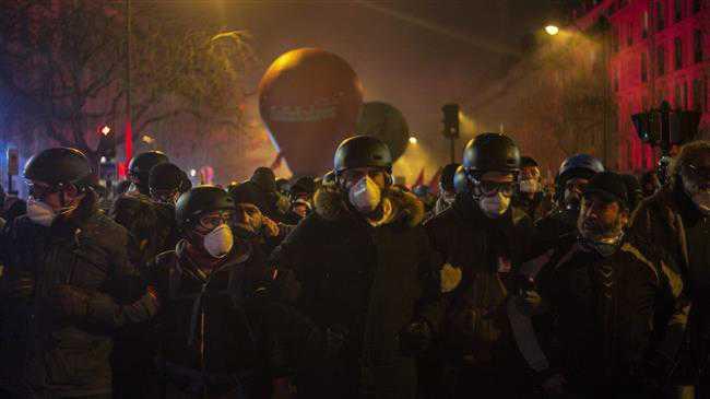 French general strike begins amid huge protests
