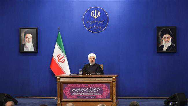 Iran Pres. Rouhani holds presser ahead of legislative vote