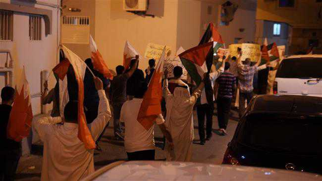 Bahrainis protest Manama regime's formal relations with Israel
